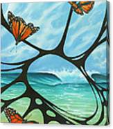 Butterfly Beach Canvas Print
