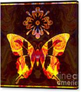 Butterfly By Design Abstract Symbols Artwork Canvas Print