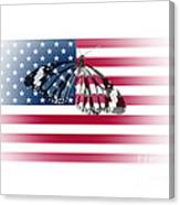 Butterfly Embedded With Usa National Flag Canvas Print