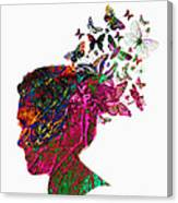 Butterfly Hair Canvas Print