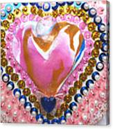 Butterfly-heart Detail Canvas Print