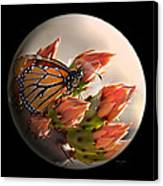 Butterfly In A Globe Canvas Print
