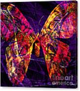 Butterfly In Abstract Dsc2977 Square Canvas Print