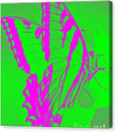 Butterfly Ode To Andy Warhol Canvas Print