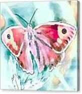 Butterfly On Flower 1 Canvas Print