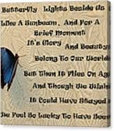 Butterfly Poem Canvas Print