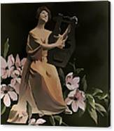 Butterfly Serenade Vintage Art Canvas Print