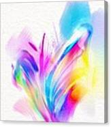 Butterfly Sound Abstract Canvas Print