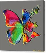 Butterfly World Map 2 Canvas Print