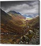 Buttermere Valley Autumn View Canvas Print