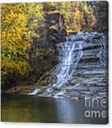 Buttermilk Falls Autumn Canvas Print