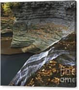 Buttermilk Falls In Autumn I Canvas Print