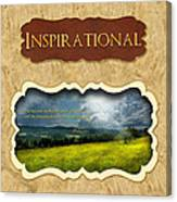 Button - Inspirational Canvas Print