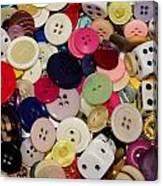 Buttons 678 Canvas Print