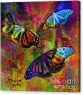 Buttrerfly Collage All About Butterflies Canvas Print