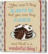 Buy Cake Typography Canvas Print