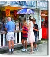 Buying Ice Cream At The Fair Canvas Print