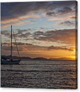 Bvi Sunset Canvas Print