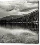 Bw Bear Lake Canvas Print