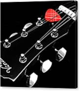 Bw Head Stock With Red Pick  Canvas Print