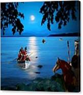 By Cover Of Night Canvas Print