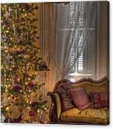 By The Christmas Tree Canvas Print