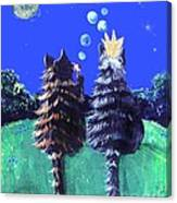 By The Light Of The Silvery Moon Canvas Print