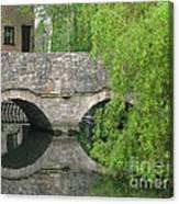 By The Old Mill Stream Canvas Print