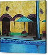 By The Poolside Canvas Print