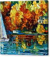 By The Rivershore Canvas Print