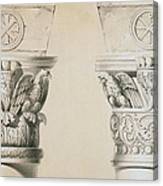 Byzantine Capitals From Columns In The Nave Of The Church Of St Demetrius In Thessalonica Canvas Print