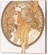Byzantine Head Of A Blond Maiden Canvas Print