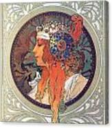 Byzantine Head The Blonde Canvas Print