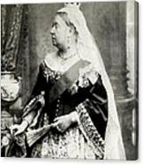 C. 1880 Her Majesty Queen Victoria Canvas Print