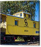 C And O Railroad Car Canvas Print