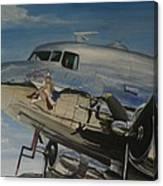 C47b Skytrain Bluebonnet Belle  Warbird 1944 Canvas Print