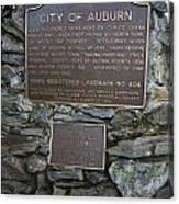 Ca-404 City Of Auburn Canvas Print