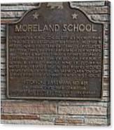 Ca-489 Moreland School Canvas Print