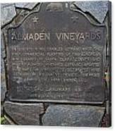 Ca-505 Almaden Vineyards Canvas Print