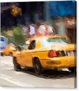 Cab Ride Canvas Print