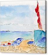 Cabana Time Canvas Print