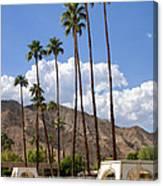Cabanas Palm Springs Canvas Print
