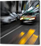 Cabbie Too Fast Canvas Print
