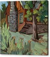 Cabin At Big Bear Lake Canvas Print
