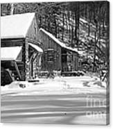 Cabin Fever In Black And White Canvas Print