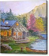 Cabin Home Canvas Print