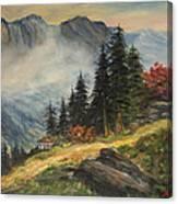 Cabin In The Alps Canvas Print