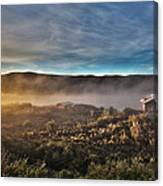 Cabin In The Fog Canvas Print