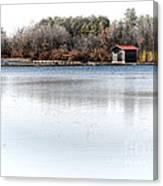 Cabin On A Lake Canvas Print