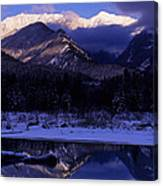 Cabinet Mountain Winter Canvas Print